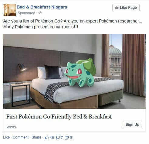 Pokemon Go per B&B